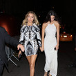 Arriving at the Harper's Bazaar Party with Gigi Hadid