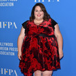 Velvet Wrap Dresses at HFPA Annual Grants Banquet