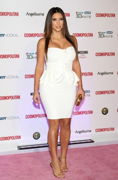 In A White Mini Dress At The 40th Anniversary Party For 'Cosmopolitan'