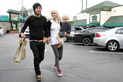 Ashlee Simpson and Pete Wentz and their son Bronx Mowgli (b. November 20, 2008) stop in at Whole Foods and look every bit a happy family as they later emerge and drive off to a McDonald's drive-thru window.
