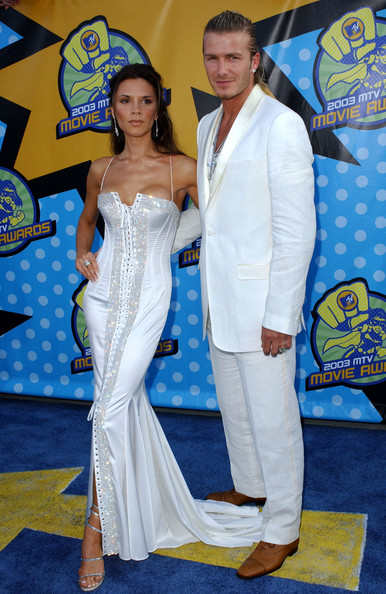 Then: Victoria and David Beckham