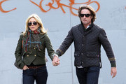 Actress Jane Krakowski and boyfriend Robert Godley (co-founder of men's  'Psycho Bunny') menswear line seen out hand in hand in the West Village, NYC.. Mandatory credit: Brian Flannery/FlynetPictures.com
