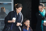 Actress Jessica Alba and her husband Cash Warren take their daughter Honor out for lunch with some friends at Tavern in Brentwood, CA.