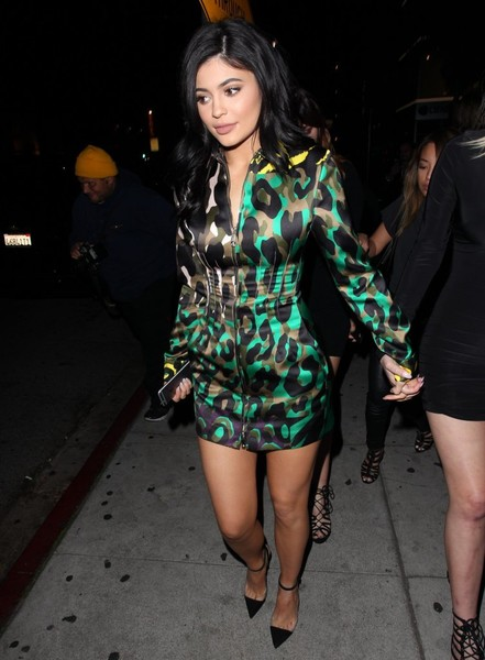 Wearing Camo Print Versace While Out In West Hollywood