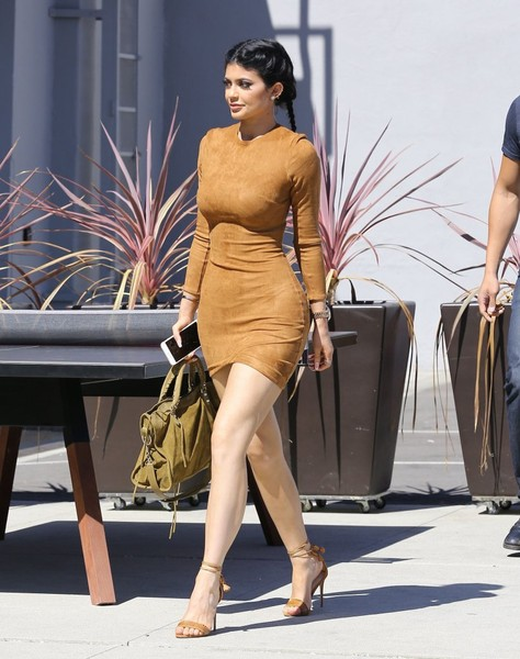Strutting Her Stuff In Suede While Visiting The Smashbox Studios In LA