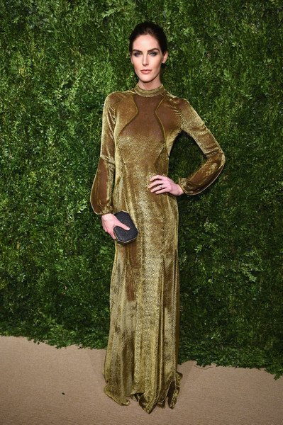 Hilary Rhoda in J. Mendel at the CFDA Vogue Fashion Fund Awards