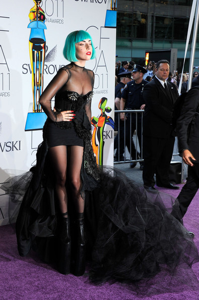 Lady Gaga in Thierry Mugler at the 2011 CFDA Awards