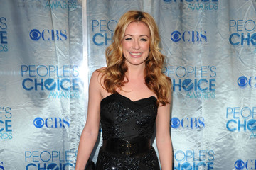 Cat Deeley Shines in a Beaded Strapless Dress at the People's Choice Awards