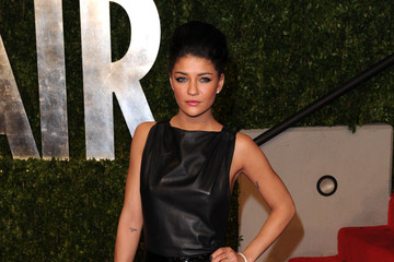 Jessica Szohr Wears Chris Benz to Vanity Fair Oscar Party
