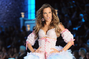Model Alessandra Ambrosio walks the runway during the 2011 Victoria's Secret Fashion Show at the Lexington Avenue Armory on November 9, 2011 in New York City.