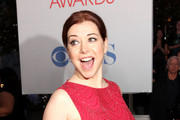 Actress Alyson Hannigan arrives at the 2012 People's Choice Awards at Nokia Theatre L.A. Live on January 11, 2012 in Los Angeles, California.