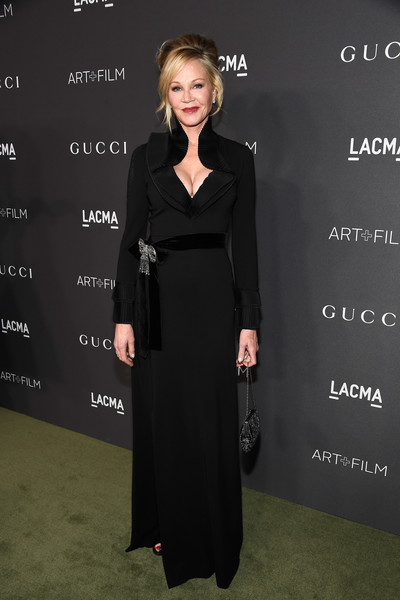 Melanie Griffith in Belted Black
