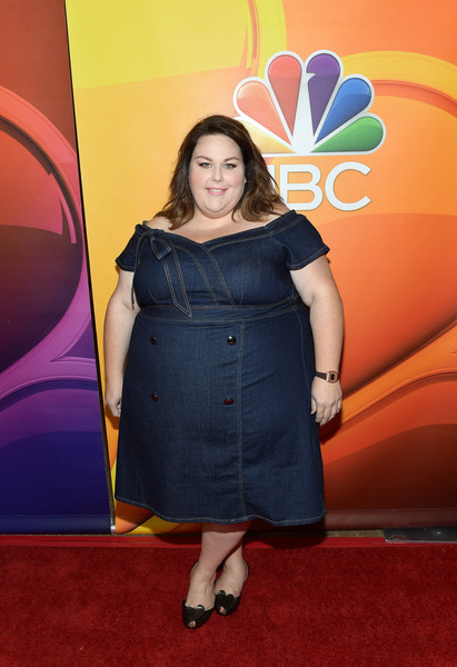 Denim Dresses at NBC Press Tour