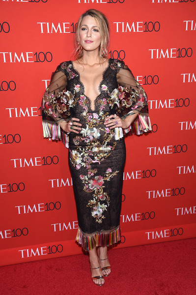Blake Lively in Marchesa at the Time 100 Gala