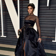 Janelle Monae in a Black Mesh Ball Gown