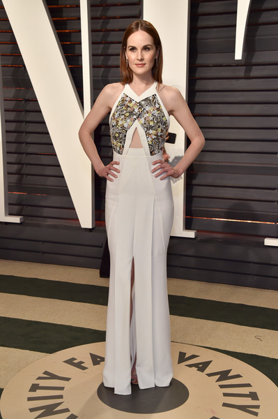 Michelle Dockery in Structured White