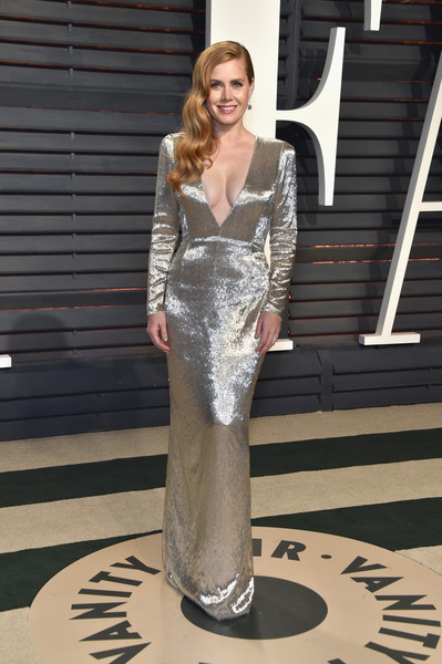 Amy Adams in Long-Sleeve Silver