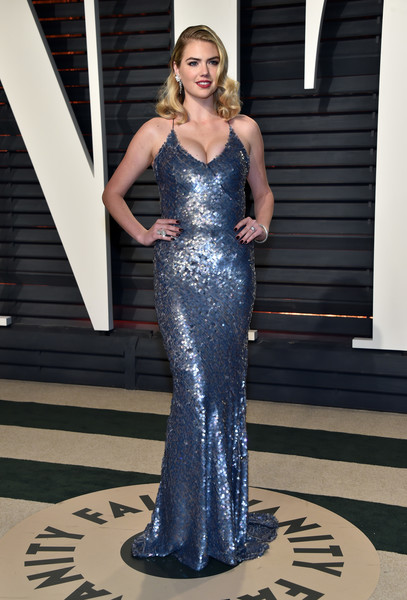 Kate Upton in Blue Shimmering Sequins