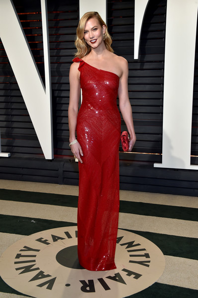 Karlie Kloss in Red Sequins