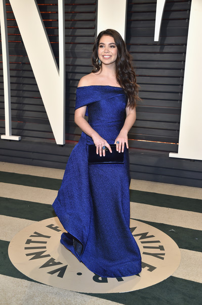 Auli'i Cravalho in Off-the-Shoulder Blue