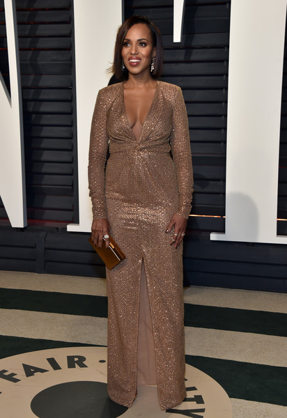 Kerry Washington in Bronze Sleeves