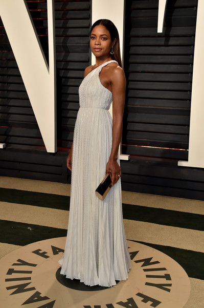 Naomie Harris in Romantic Grecian Pleats