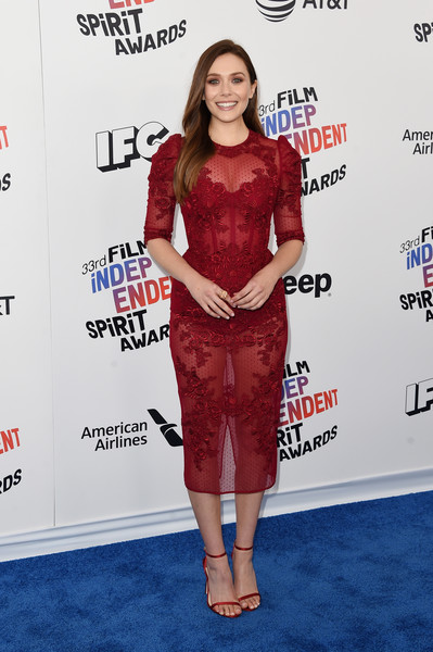 Elizabeth Olsen In Zuhair Murad At The Independent Spirit Awards