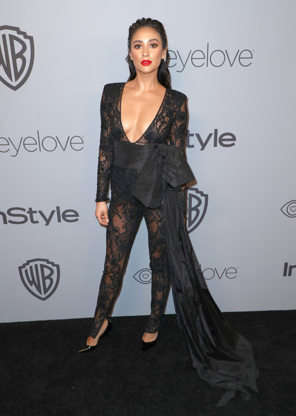 Shay Mitchell in Dundas at the Golden Globe After Party