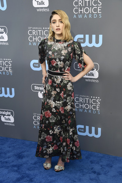 Natalia Dyer At The 2018 Critics' Choice Awards