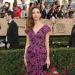Angela Sarafyan in Patterned Pink