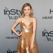 Skyler Samuels in Gold Paillettes