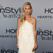 Rachel Zoe in White Lace Ruffles