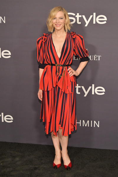 Cate Blanchett's Red and Navy Stripes