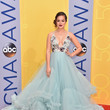 Hayley Orrantia in Pale Blue Ruffles
