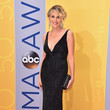 Sharon Stone in a Plunging Black Gown