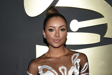Kat Graham in Yanina Couture at the 2015 Grammys (Red Carpet Pics)