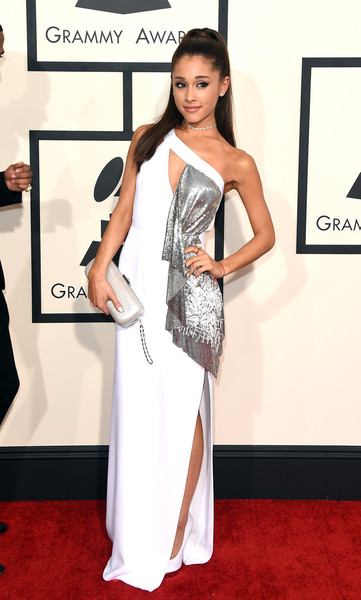 White Haute In Versace On The 2015 Grammys Red Carpet