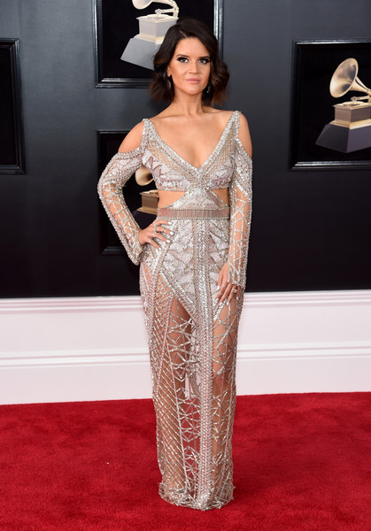 Maren Morris In Julien Macdonald At The Grammy Awards, 2018