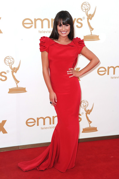 Lea Michele 2011 Emmy Awards