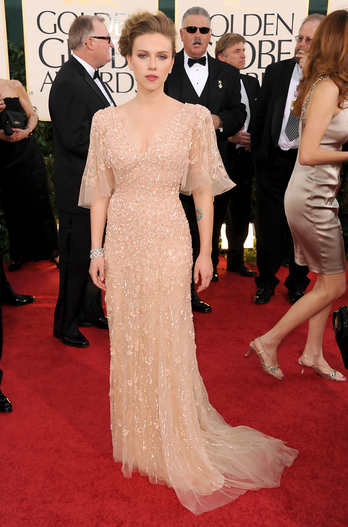 Scarlett Johansson\'s Nude Gown by Elie Saab - Celebrity Clothes ...