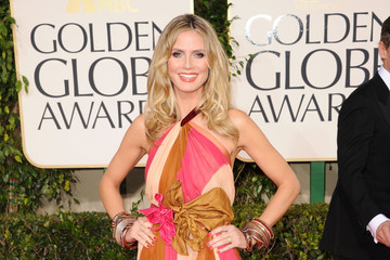 Heidi Klum Is Retro Chic in a Marc Jacobs Gown at the Golden Globe Awards 2011