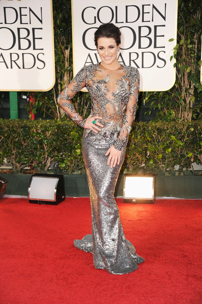 Lea Michele in Marchesa at the 2012 Golden Globes