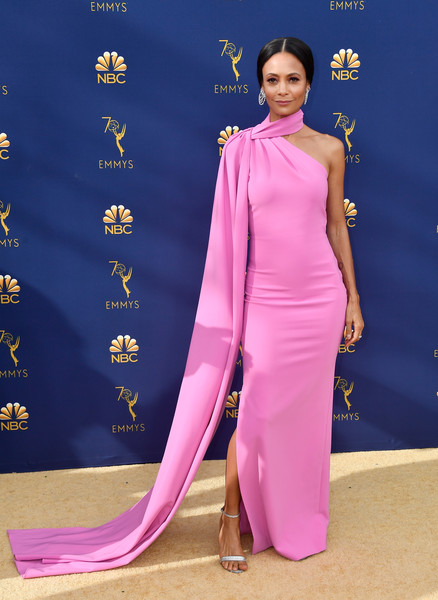 Thandie Newton In Brandon Maxwell At The Emmy Awards