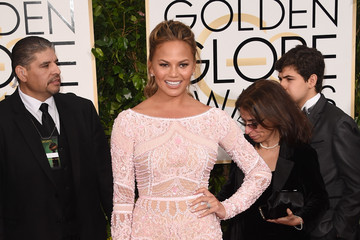 Chrissy Teigen in a Zuhair Murad Gown at  the 2015 Golden Globes (Photos)
