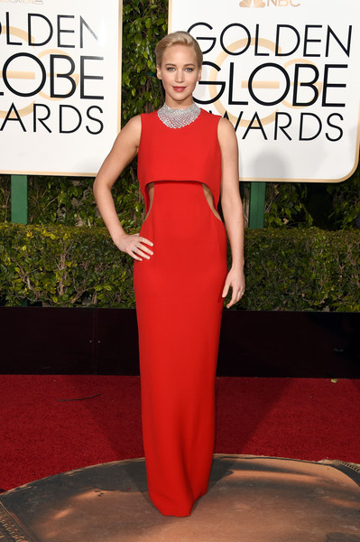Jennifer Lawrence in Christian Dior at the 2016 Golden Globes