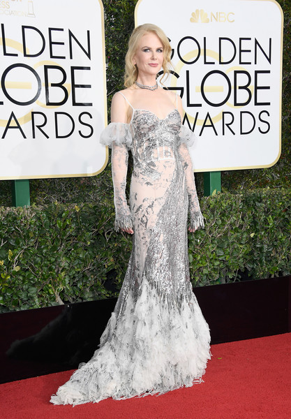 Nicole Kidman in Alexander McQueen at the Golden Globes