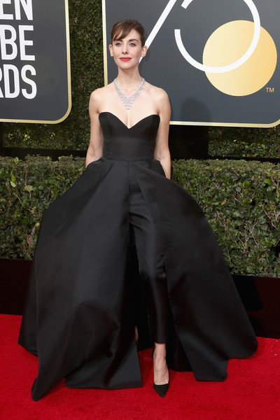 Alison Brie in Vassilis Zoulias at the 2018 Golden Globes