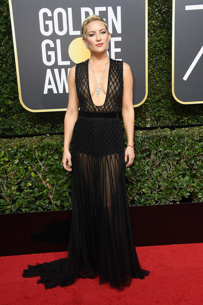 Kate Hudson in Valentino at the Golden Globes