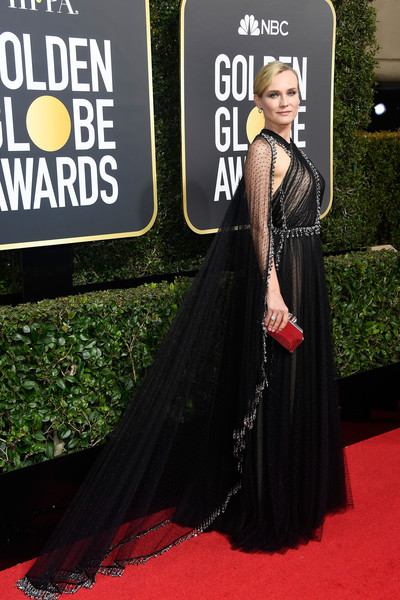 Diane Kruger in Prada at the 2018 Golden Globes