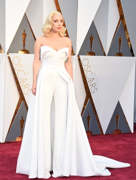 Lady Gaga at the 2016 Oscars